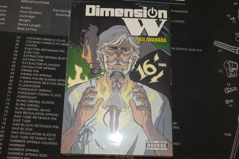 Dimension W manga volume 16 cover