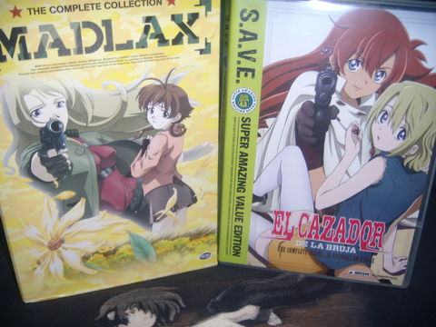 Madlax and El Cazador de la Bruja DVDs