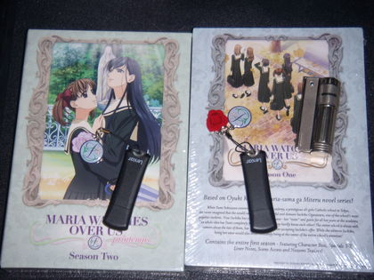 Marimite DVDs, Lillian Academy cell phone charms, and my Austrian Imco lighter