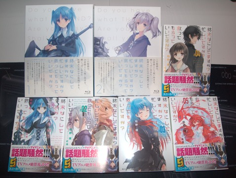 SukaSuka Blu-rays and light novels