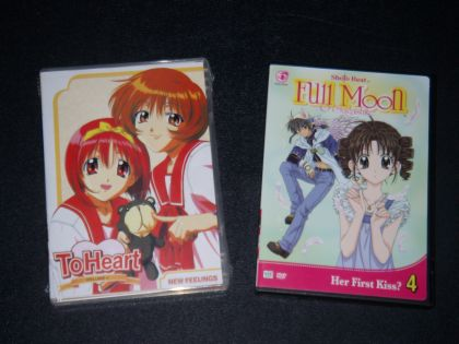 To Heart and FMoS DVDs