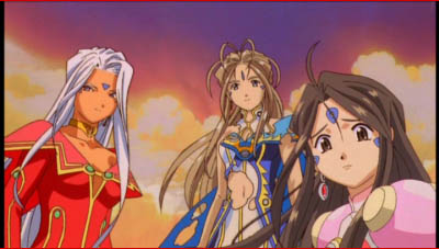 Urd, Belldandy, and Skuld