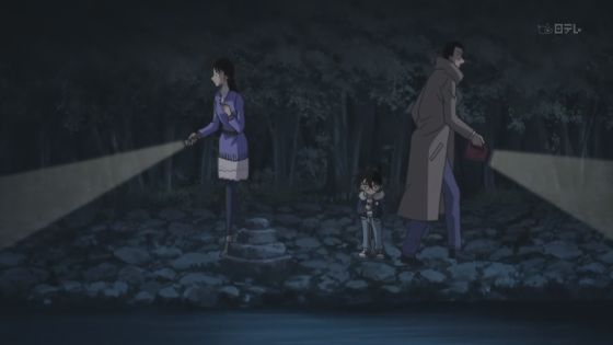 Ran, Conan, and Kogoro