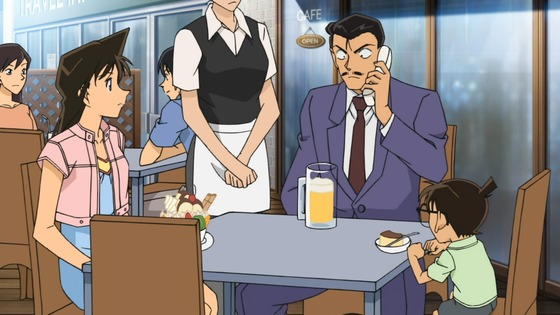 Ran, Kogoro, and Conan