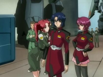 Meyrin, Athrun, and Lunamaria
