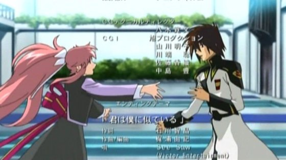 Lacus and ZAFT-type Kira