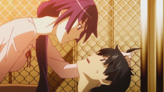Hitagi and Araragi