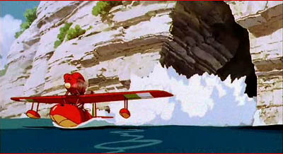 Porco's aircraft exiting the hideout