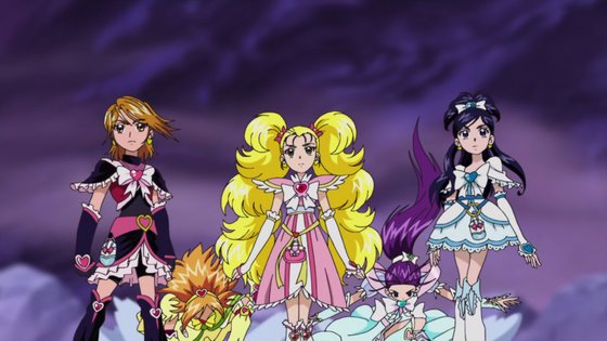 Cure Black, Cure Bright, Shiny Luminous, Cure Windy, and Cure White