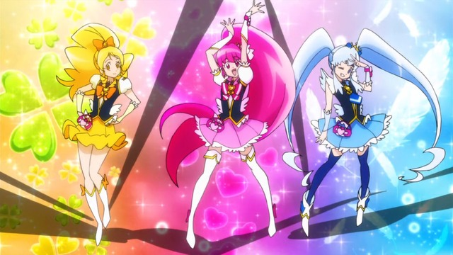 Cure Honey, Cure Lovely, and Cure Princess