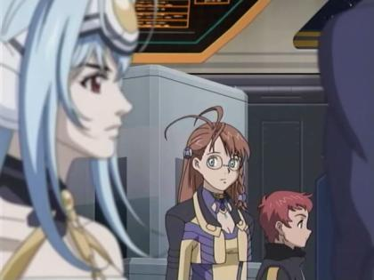 KOS-MOS, Shion, and Junior